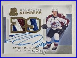 2013-14 The Cup Nathan Mackinnon Honorable Numbers 22/29 Jersey Auto Rc 2013