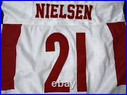2014 WC U20 IIHF Game Worn Norway Ice Hockey Jersey NIKE Norge #21 NEILSEN