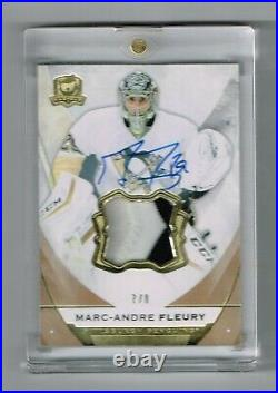 2015-16 The Cup Marc-Andre Fleury #75 Jersey Patch Auto #/8