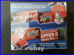 2015-16 UD Series 1 Hockey Factory Sealed 24 Pack Retail Box-6 Young Guns+Jersey
