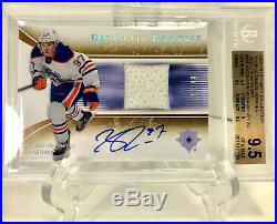 2015-16 UD Ultimate'05-'06 Tribute RC Auto Jersey 10/99 Connor McDavid BGS 9.5