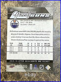 2015-16 UD Young Guns #201 Connor McDavid Series One RC