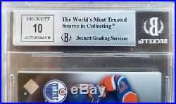 2015-16 Ud Black Rookie Connor Mcdavid Coverage Jersey Gold Auto 10 Bgs 8.5 /60