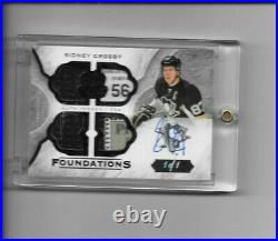 2015-16 Upper Deck The Cup Foundations Auto Jersey Tag Sidney Crosby 1/1 1 of 1
