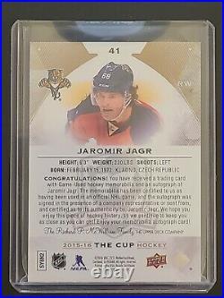 2015-2016 The Cup Jaromir Jagr Autograph Auto Patch Jersey 8/8 1/1 3 Color