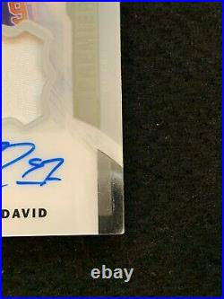 2015 UD Premier Hockey Connor McDavid ROOKIE RC JERSEY PATCH AUTO /199