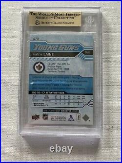 2016-17 Patrik Laine Ud Young Guns Rookie #451 Bgs 10 Pristine Winnipeg Jets Rc