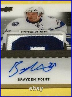 2016-17 Premier Rookie Auto Patch #/299 Brayden Point RC! On Card, Jersey Relic