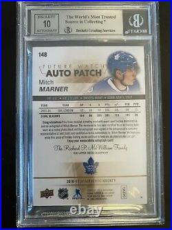 2016 Mitch Marner SP authentic Rookie Materials Jersey Patch auto /100 BGS9 MINT