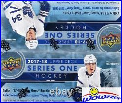 2017/18 UD Series 1 Hockey Factory Sealed 24 Pack Retail Box-6 Young Guns+Jersey