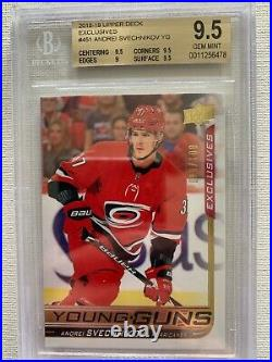 2018-19 Andrei Svechnikov Ud Young Guns Rookie Exclusives 99/100 #451 Bgs 9.5 Rc