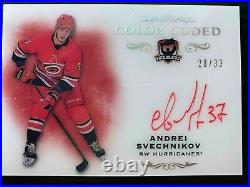 2018-19 The Cup Color Coded Auto Andrei Svechnikov 28/33 Hurricanes acetate