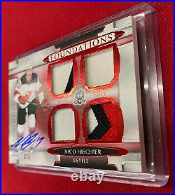 2018-19 The Cup FOUNDATIONS AUTO JERSEY Patch 3/5 NICO HISCHIER #F-NH AUTOGRAPH