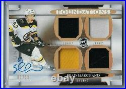 2018-19 The Cup- Foundations Quad Jersey Auto- Brad Marchand F-bm 01/15