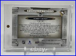 2018/19 UD The Cup Foundations Sidney Crosby Quad Jersey AUTO 11/15 Penguins