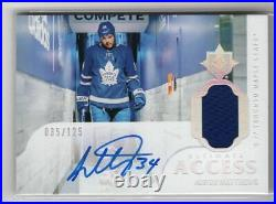 2018-19 Ud Ultimate Collection Access Auto Jersey /125 Auston Matthews Leafs