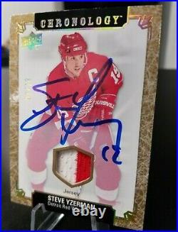 2018-19 Upper Deck Chronology Steve Yzerman Auto Jersey /10 Detroit Red Wings