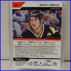 2018-19 Upper Deck SP Game Used #90 Mario Lemieux Penguins Jersey Auto