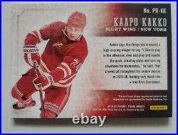 2019-2020 Panini Prime Hockey Kaapo Kakko Quad Jersey Auto PP-KK 2/10
