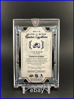 2019-20 Black Diamond CALE MAKAR Silver on Black ROOKIE SIGNATURES 3/25 SSP