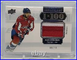 2019-20 Chronology Vol. 2 Alex Ovechkin 1 in 100 Patch 8/10! Jersey Number