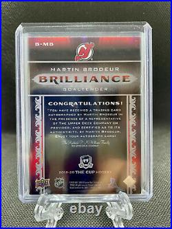 2019-20 In The Cup Brilliance Martin Brodeur Autograph Auto New Jersey Devils