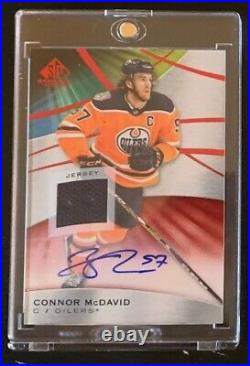 2019-20 SP Game Used Connor McDavid RED AUTO Jersey Swatch