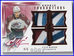 2019-20 The Cup Foundations Jersey Red Ink Autographs Patch #FMA Cale Makar 4/5