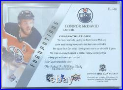 2019-20 Upper Deck The Cup Connor McDavid Jersey /49 UD 19/20 #F-CM Foundations