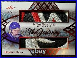 2019 Leaf In The Game Used Hockey The Journey Dominik Hasek Jersey Patch 4/4