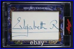 2020-21 Leaf Pearl Signature Queen Elizabeth The Queen Mother Cut Auto Card #1/1