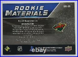 2020-21 Series 2 Hockey ROOKIE MATERIALS Jersey Relic Wild KIRILL KAPRIZOV RM-KK