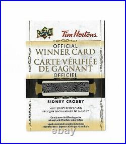 2020-21 Tim hortons Hockey cards Sidney Crosby Jersey Relic winner card