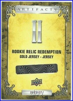 2020-21 Ud Artifacts Kirill Kaprizov Rookie Gold Jersey Jersey Redemption #ii