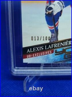 2020-21 Upper Deck Young Guns Exclusives 13/100 Jersey #! Alexis Lafreniere HGA9
