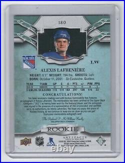 2020-21 artifacts ALEXIS LAFRENIERE auto dual jersey RC #15/25