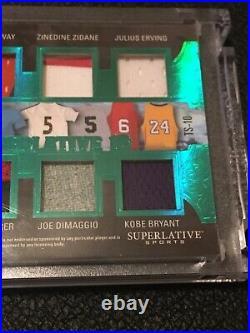 2020 Leaf Superlative Tom Brady, Kobe Bryant, Lionel Messi Game Used Patch Ssp#5/5