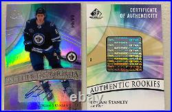 20/21 UD SP Game Used Logan Stanley Authentic Rookies RC Auto SPGU #d 64/64 1/1