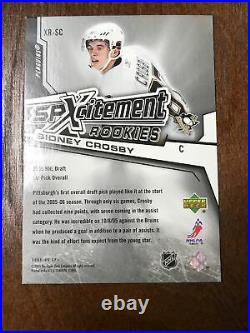 #337/999 2005-06 UD SPX spXcitement 112/999 ROOKIE SIDNEY CROSBY RC RARE