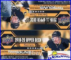 (4) 2019/20 Upper Deck Series 1 Hockey 24 Pack Retail Box-24 YOUNG GUNS+4 JERSEY
