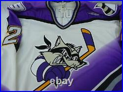 AHL Baltimore Bandits Leboutillier Ice Hockey Jersey with Fight Strap circa 1996