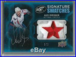 Alex Ovechkin 16/17 Upper Deck Ice Autograph Game Used Jersey Logo Patch #3/3
