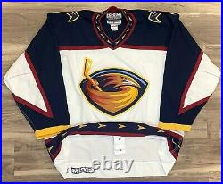 Atlanta Thrashers Hockey Jersey Authentic CCM NHL Vintage Inaugural Center Ice