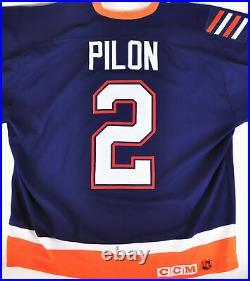 Authentic NHL Hockey Jersey New York Islanders Rich Pilon CCM Center Ice #2
