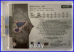 Brett Hull 17-18 Upper Deck Splendor Silver Autograph Jersey Patch #16/22