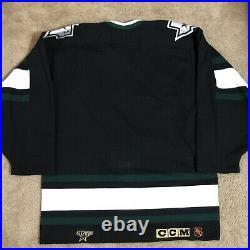 CCM Center Ice Authentic Dallas Stars NHL Hockey Jersey Vintage Black Away 44