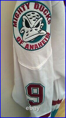 CCM NHL ANAHEIM mighty ducks jersey #9 Kariya Sz XL ICE HOCKEY RARE VINTAGE