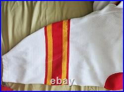 Calgary flames ccm 90-91 authentic center ice collection hockey jersey 52