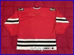 Chicago Blackhawks Authentic CCM Ultrafil Hockey Jersey Size 52 Blank Center Ice