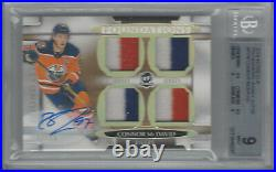 Connor Mcdavid 2018-19 The Cup Foundations Jersey Autographs 12/15 Bgs 9/au 10